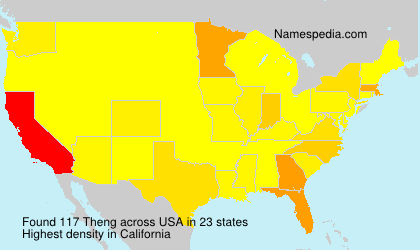 Surname Theng in USA