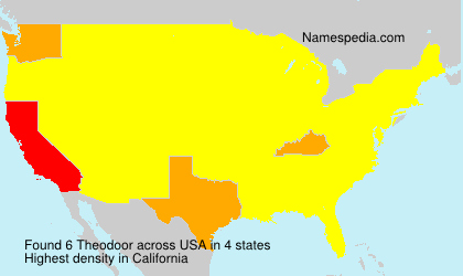 Surname Theodoor in USA