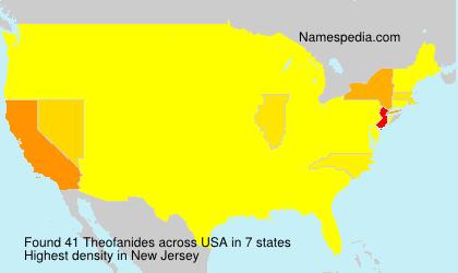 Surname Theofanides in USA