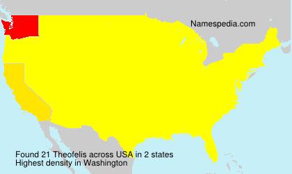 Surname Theofelis in USA