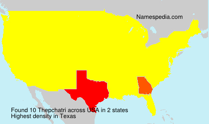 Surname Thepchatri in USA