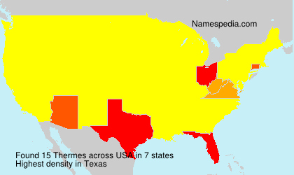 Surname Thermes in USA