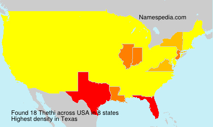Surname Thethi in USA