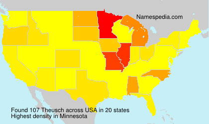Surname Theusch in USA