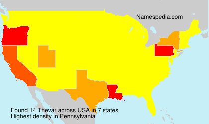 Surname Thevar in USA