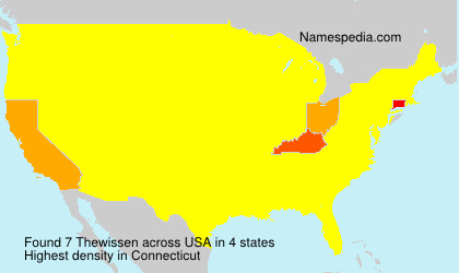 Surname Thewissen in USA