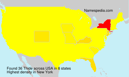 Surname Thide in USA