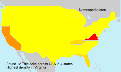 Surname Thielecke in USA