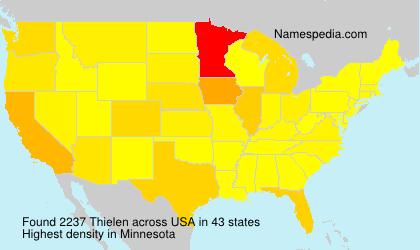 Surname Thielen in USA