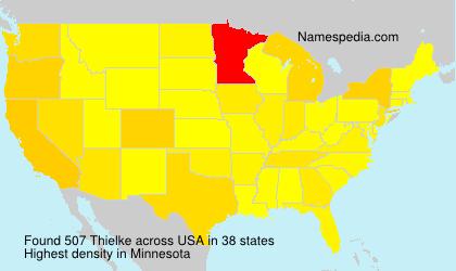 Surname Thielke in USA