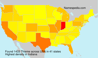 Surname Thieme in USA