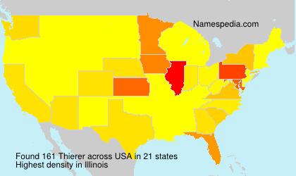 Surname Thierer in USA