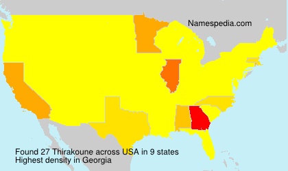 Familiennamen Thirakoune - USA