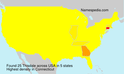 Surname Thisdale in USA