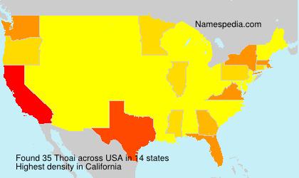 Familiennamen Thoai - USA