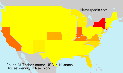 Surname Thoben in USA