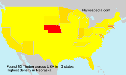 Surname Thober in USA