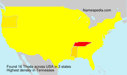 Surname Thoda in USA