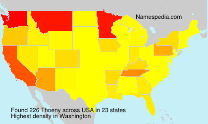 Surname Thoeny in USA