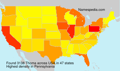 Surname Thoma in USA