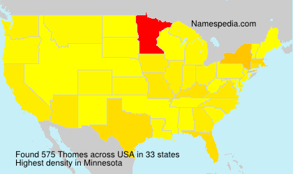 Surname Thomes in USA