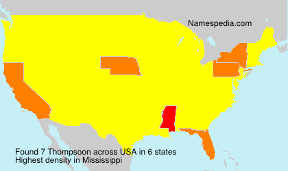 Surname Thompsoon in USA