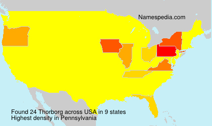 Surname Thorborg in USA