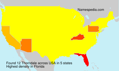 Surname Thorndale in USA
