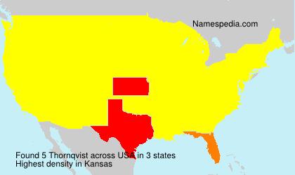 Surname Thornqvist in USA