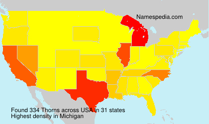 Surname Thorns in USA