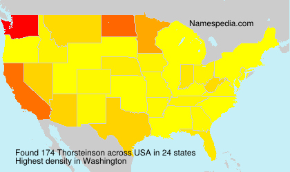Surname Thorsteinson in USA