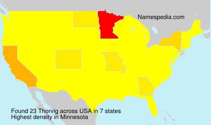 Familiennamen Thorvig - USA