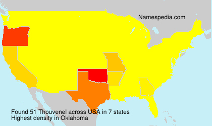 Surname Thouvenel in USA