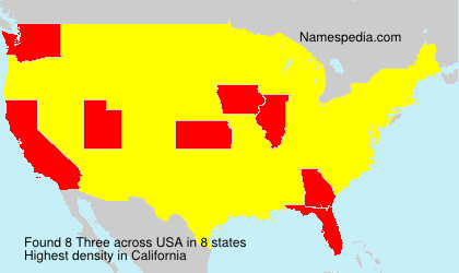 Surname Three in USA