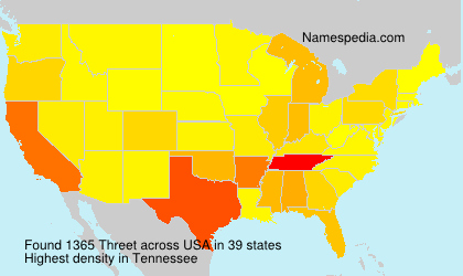 Surname Threet in USA