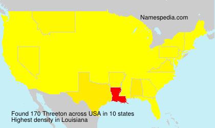 Familiennamen Threeton - USA