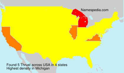 Surname Thrust in USA