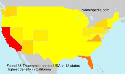 Surname Thuemmler in USA