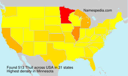 Surname Thull in USA