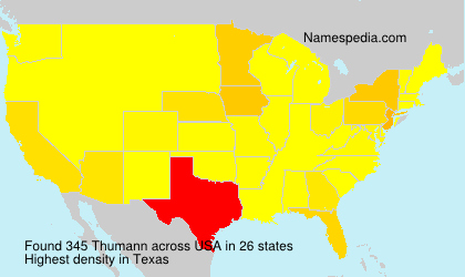 Surname Thumann in USA
