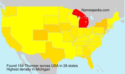 Surname Thumser in USA