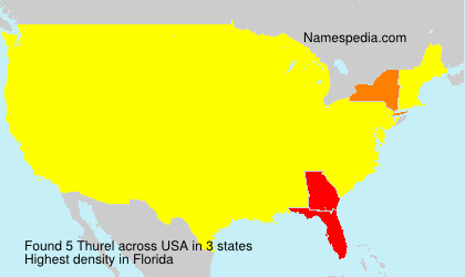 Surname Thurel in USA