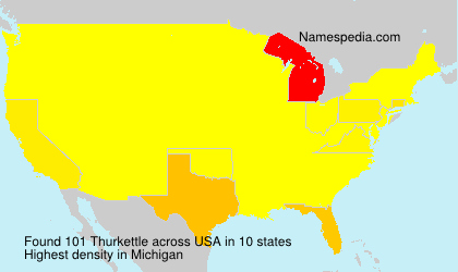 Surname Thurkettle in USA