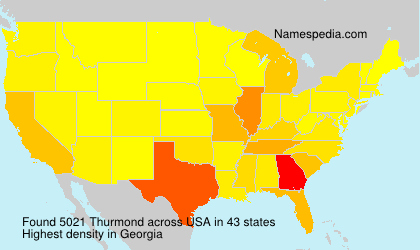 Surname Thurmond in USA