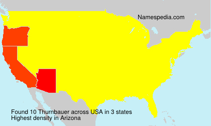 Surname Thurnbauer in USA