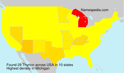 Surname Thyrion in USA