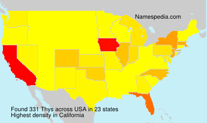 Surname Thys in USA