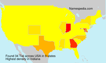 Surname Tial in USA