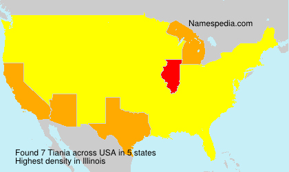 Surname Tiania in USA
