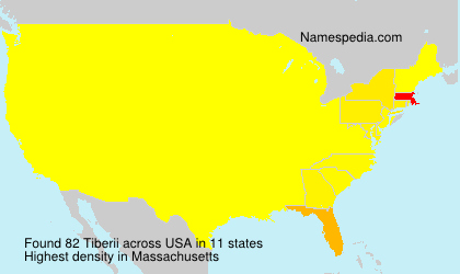 Surname Tiberii in USA